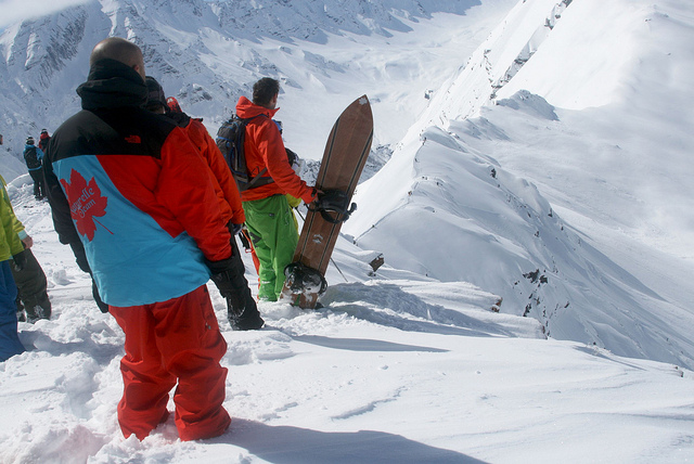Freeride en groupe